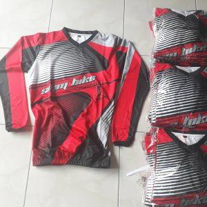 Desain jersey motocross merah