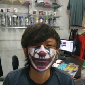 Masker Scuba Motif Joker